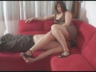 با هم face_sitting دختر هندی bp ویدئو سکسی در جوراب ساق بلند سفید